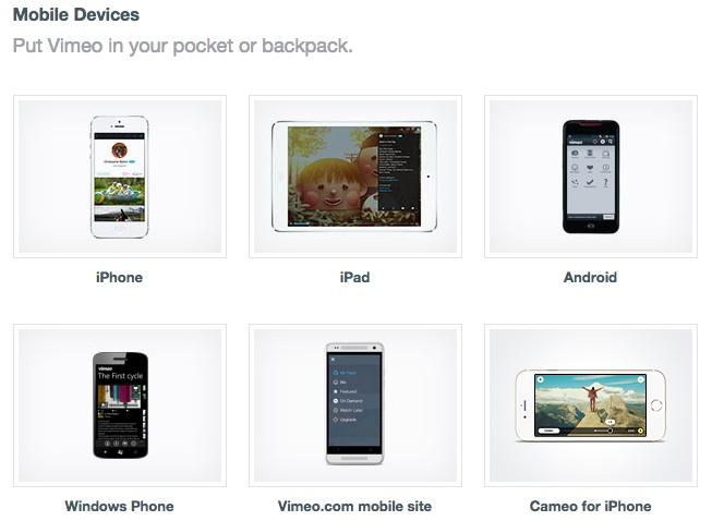 vimeo mobile pic